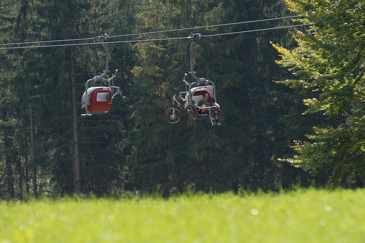 Ochsenkopf Sesselbahn mit Radbeförderung