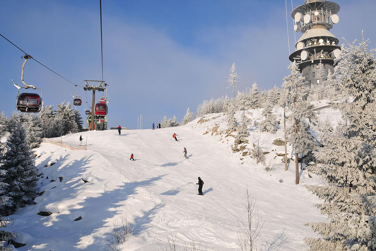 Ochsenkopf Südabfahrt im Winter