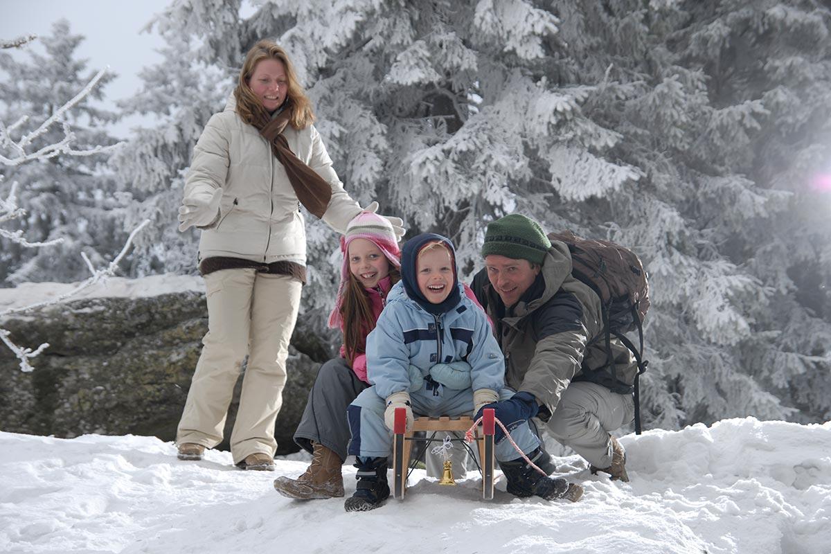 Winter Schlittenfahren